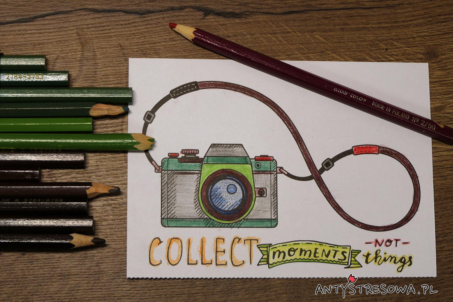Obrazek pokolorowany kredkami Taktyka
