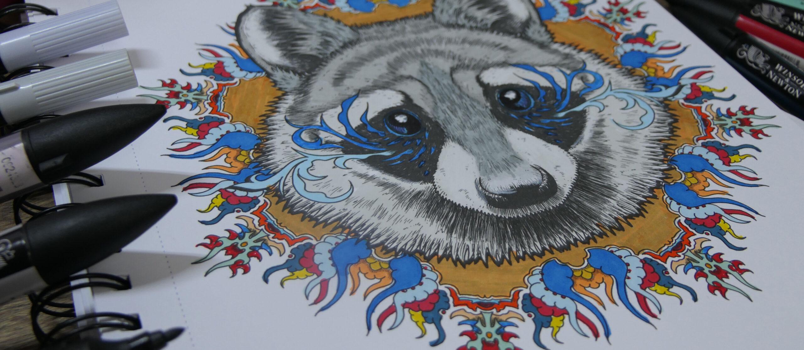 Chameleon Mandalas Gone Wild - kolorowanka do markerów