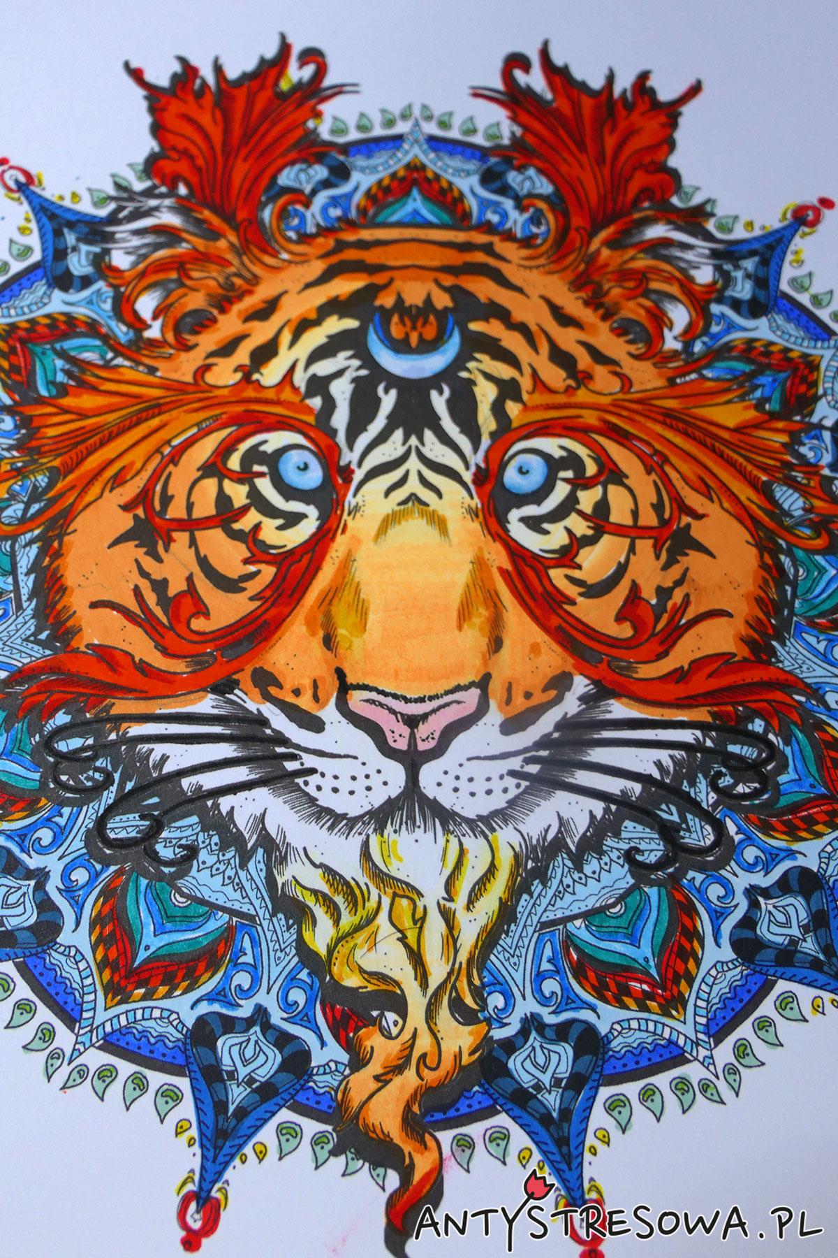 Mandalas Gone Wild - Tygrys