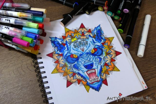 kolorowanie markerami