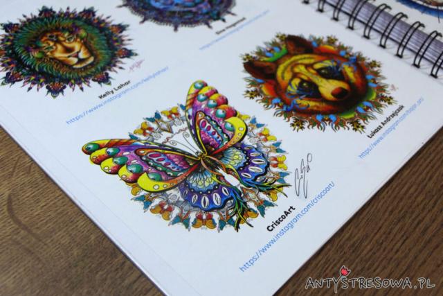 Kolorowanki wykonane przez znanych artystów