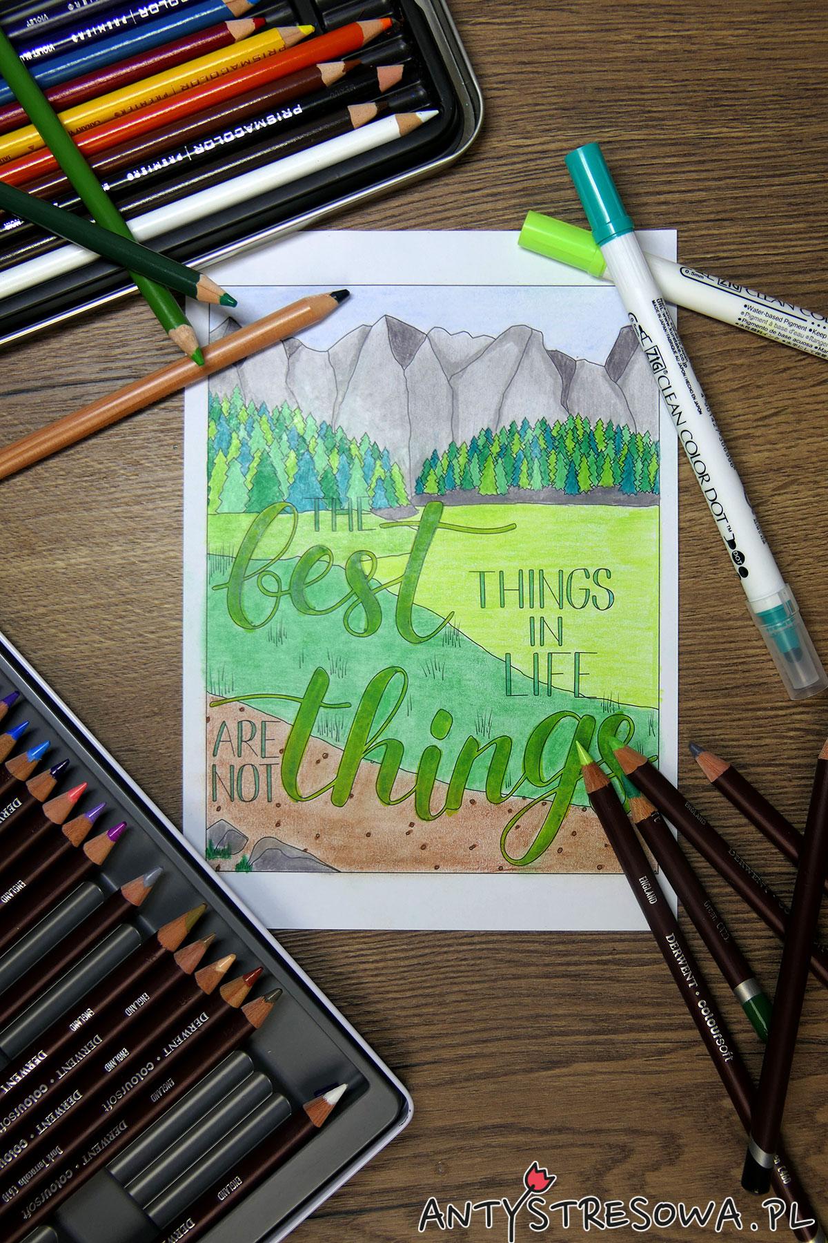 Colouring and Craft Book - Clean Color Dot, Kredki Coloursoft i Prismacolor Premier