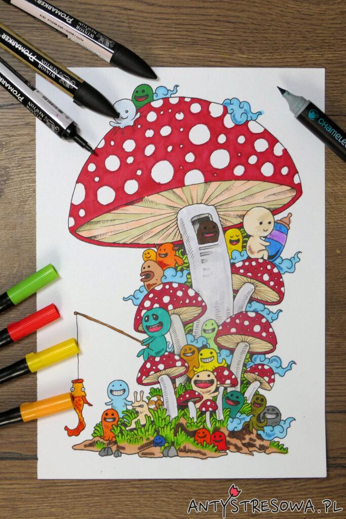 Kolorowanie pisakami Art & Graphic Twin, Promarkerami i Markerami Chameleon