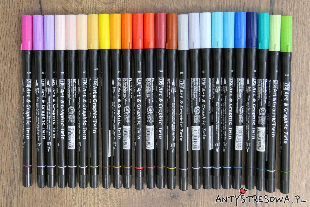 Pisaki Kuretake Art & Graphic Twin - jak zacząć kolorować?