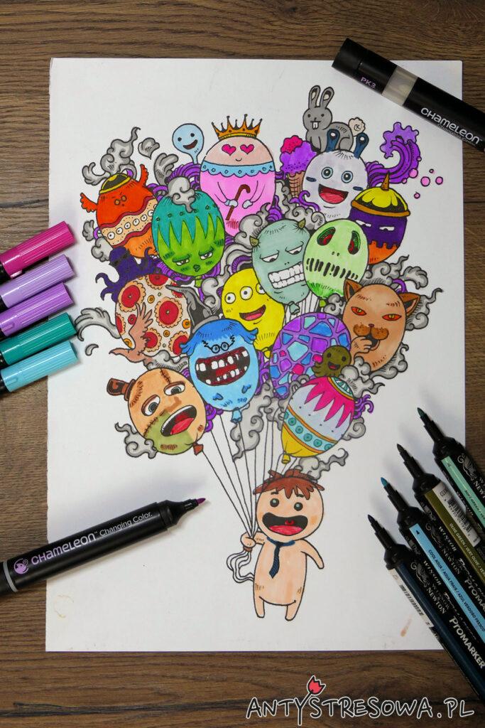 Doodle Invasion - kolorowanka dla dzieci i dorosłych