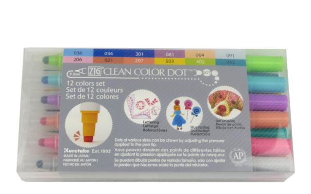Kuretake Zig Clean Color Dot - pisak w kształcie kulki