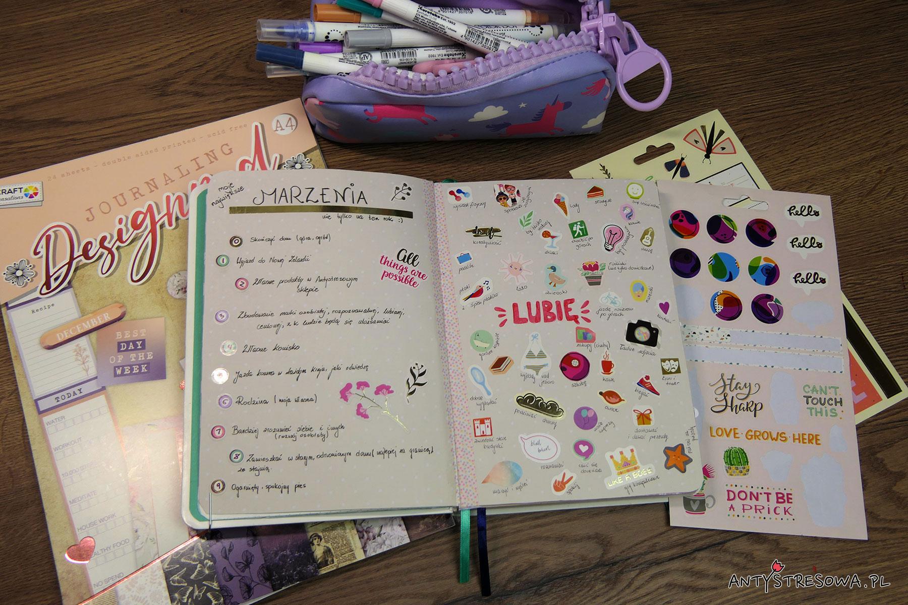 Marzenia w Bullet Journal