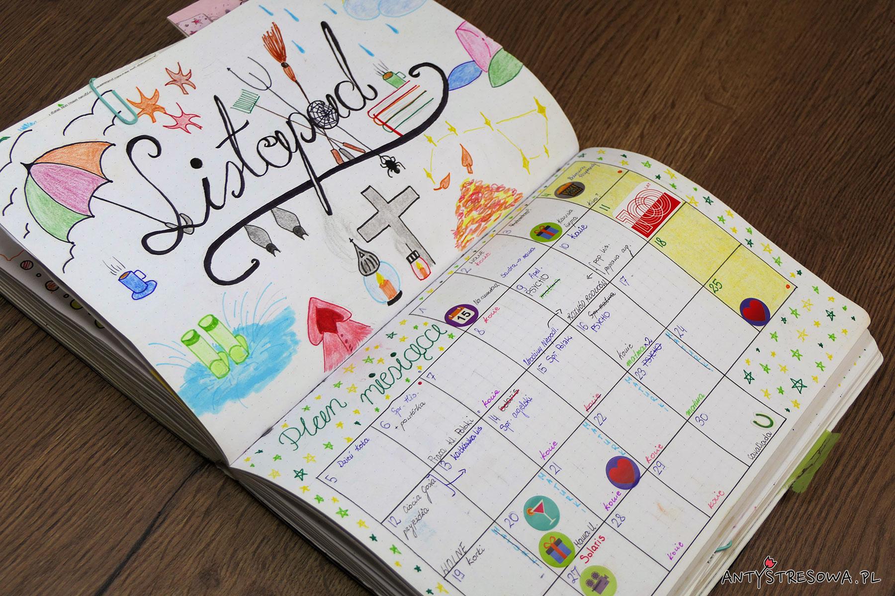 Listopad - plan miesiąca