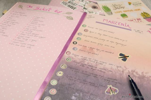 Planer Pełen Czasu - bucket list i marzenia