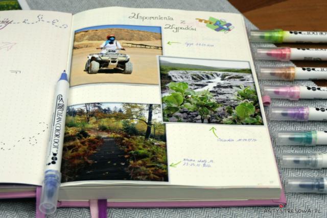 Plany podróży i wspomnienia - BuJo
