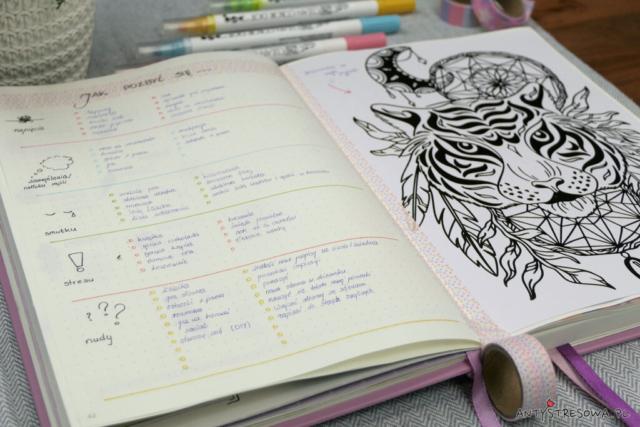 Kolorowanka w Bullet Journal