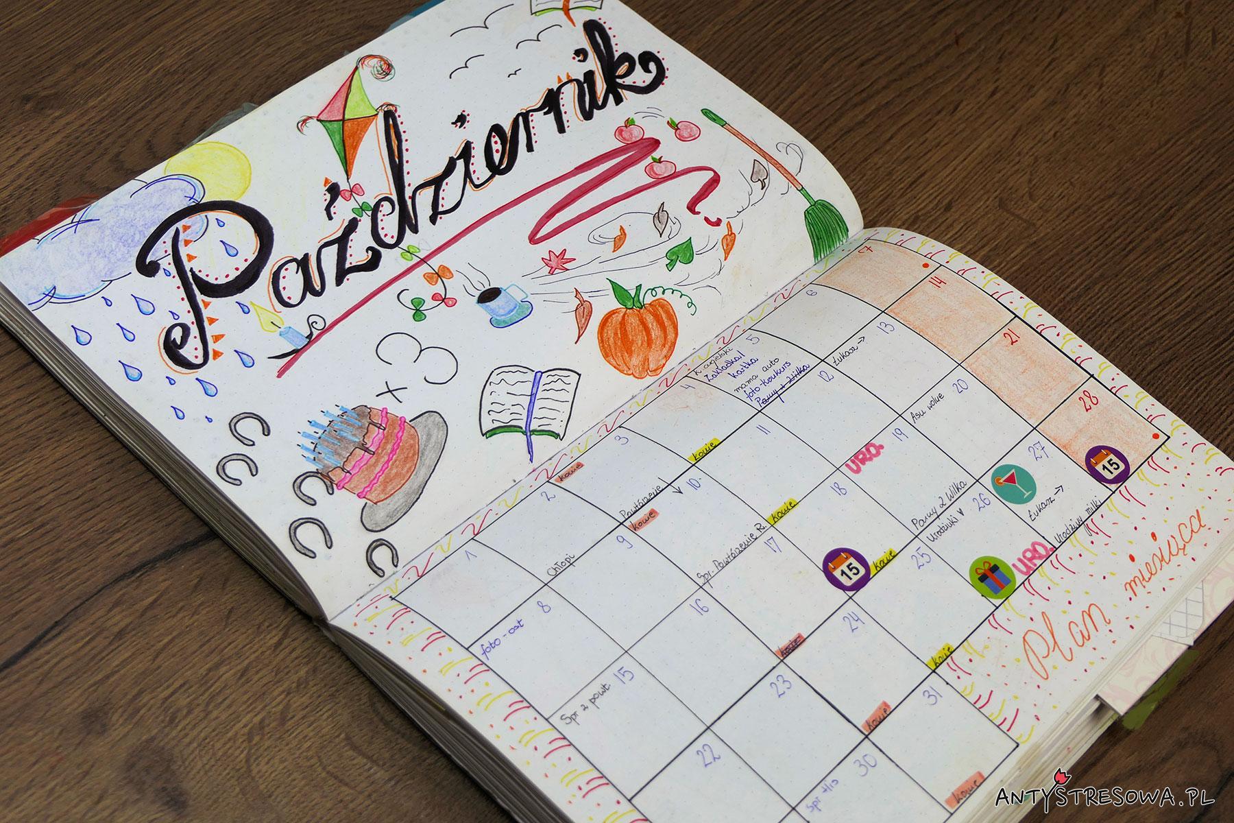 Październik w Bullet Journal