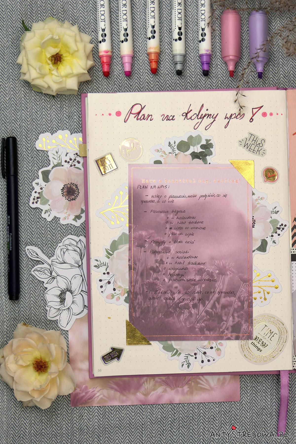 Zaplanuj blog w Bullet Journal