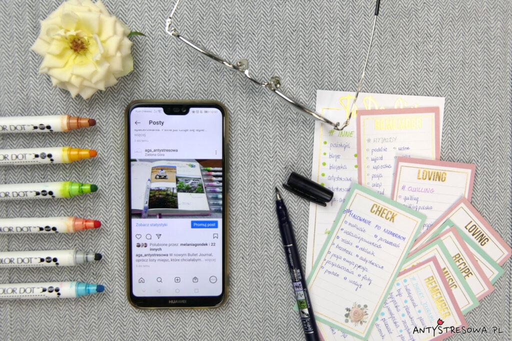 Planowanie treści publikowanych na Instagramie